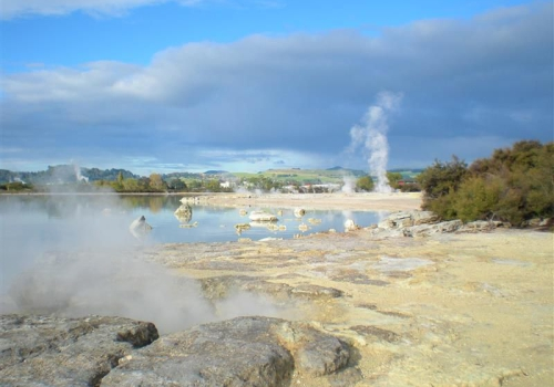Geysers, Rotorua, Sulphur, Point, Lake