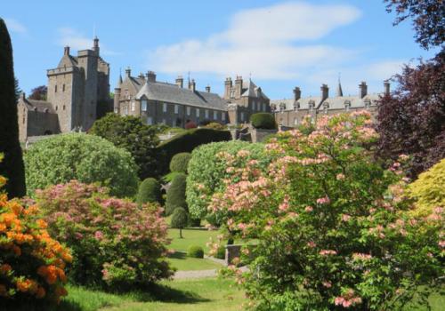 Tuinen van Drummond Castle bij Crieff