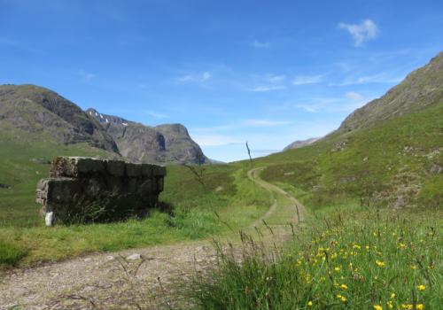Military road door Glencoe West Highland Way