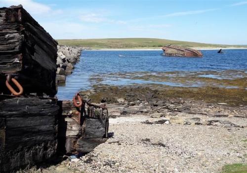 Churchill Barriers op Orkney eilanden