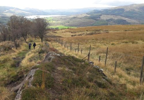 Wandeling bij Callander Schotland