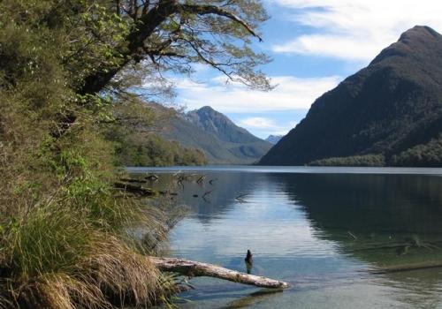 Lake Gunn in Fjordland Park - autoreis