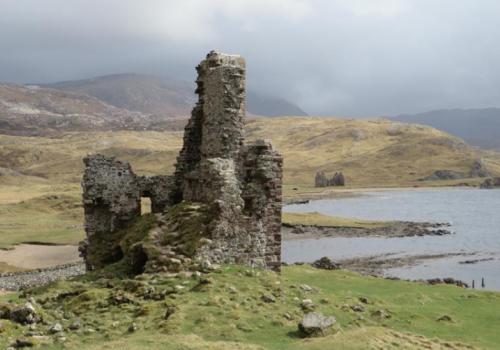 Ardvreck, ruine, Sutherland, Assynt