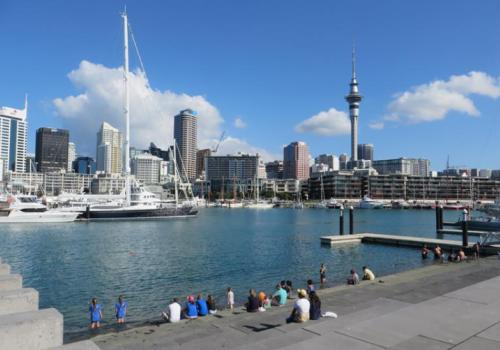 Auckland, Viaduct, Basin, Skytower