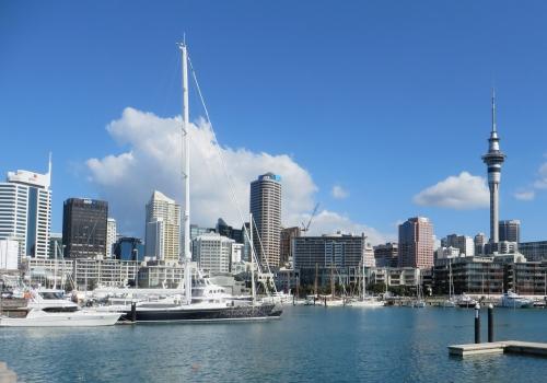 Auckland, Viaduct, Basin, Skytower, Albert Park