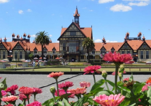 Rotorua, Bathhouse, Museum, Hibiscus