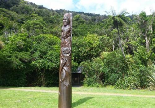 Maori, Woodcarve, Ships Cove, James Cook