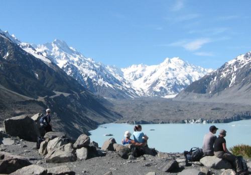 Tasman, Lake,  Glacier, Mount Cook