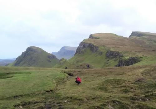 Quaraing, Skye, Trotternish, reis, auto